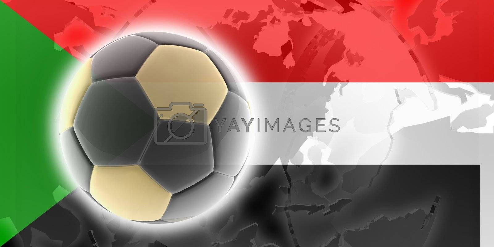 Royalty free image of Flag of Sudan soccer by kgtoh