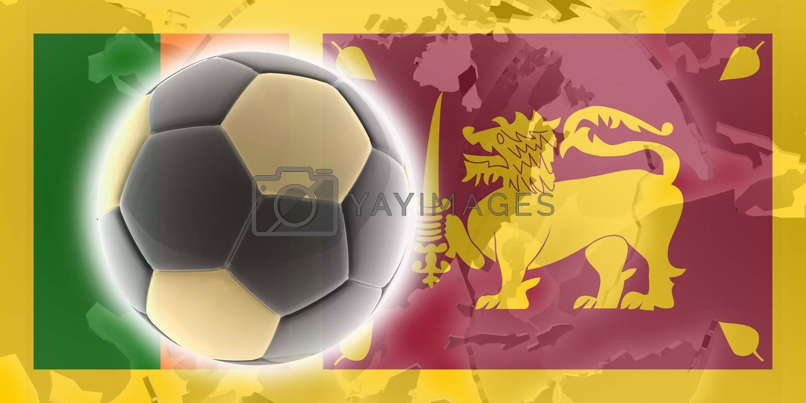 Royalty free image of Flag of Sri Lanka soccer by kgtoh