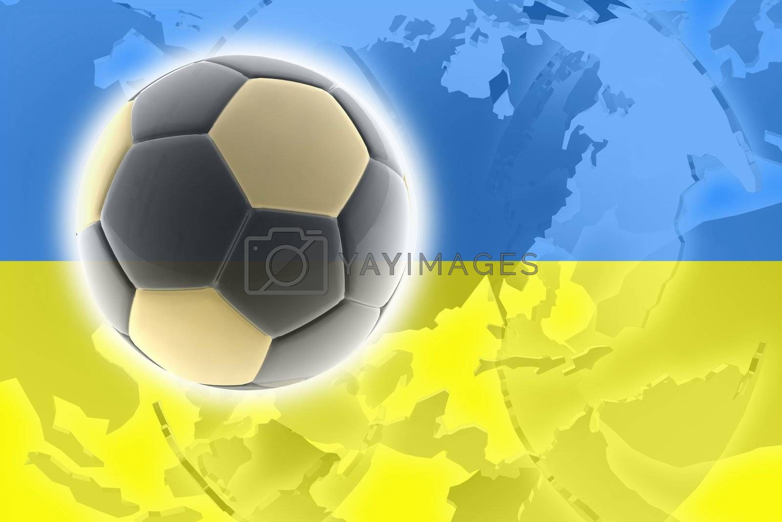 Royalty free image of Flag of Ukraine soccer by kgtoh