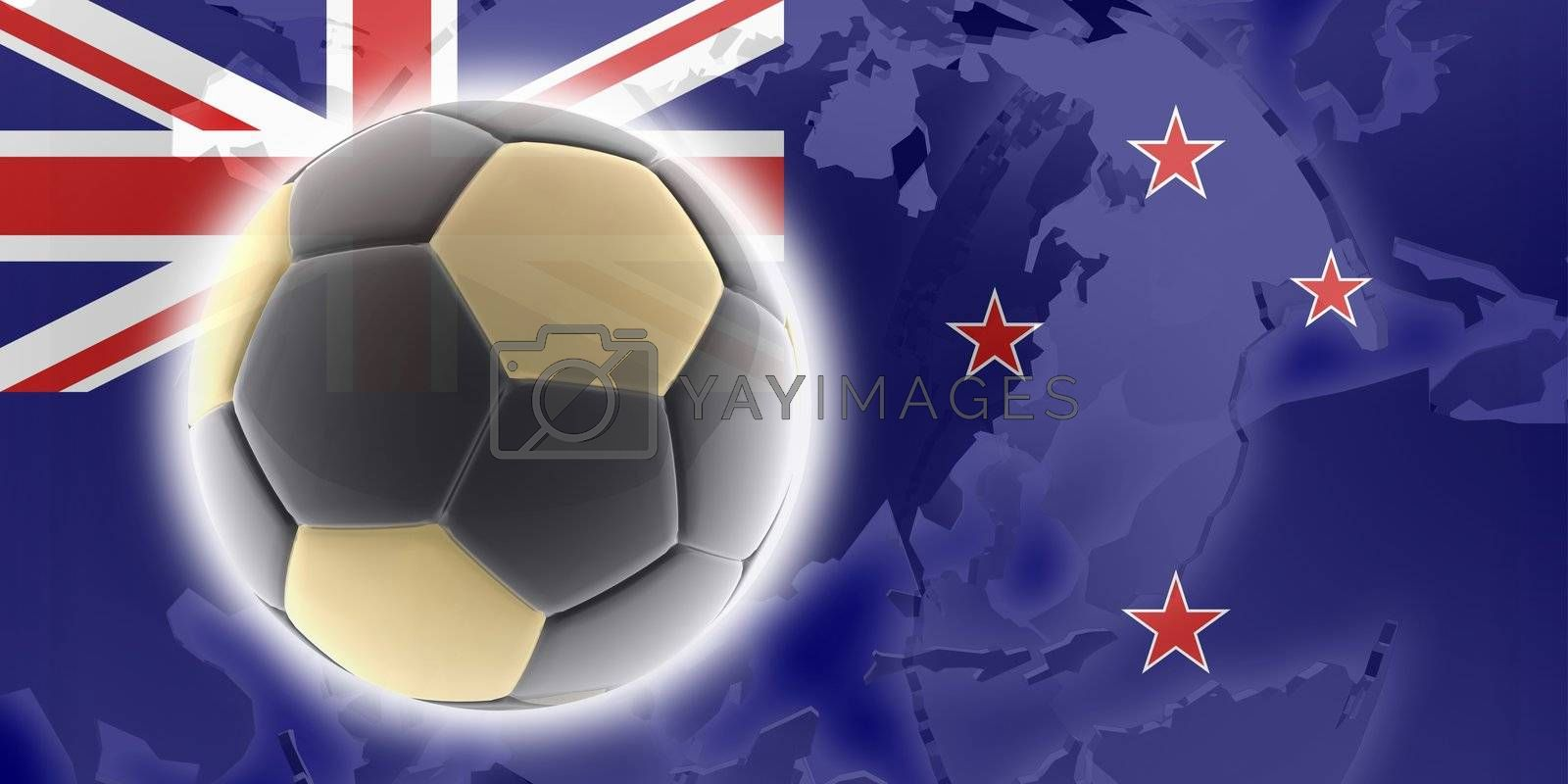 Royalty free image of Flag of Tokelau soccer by kgtoh
