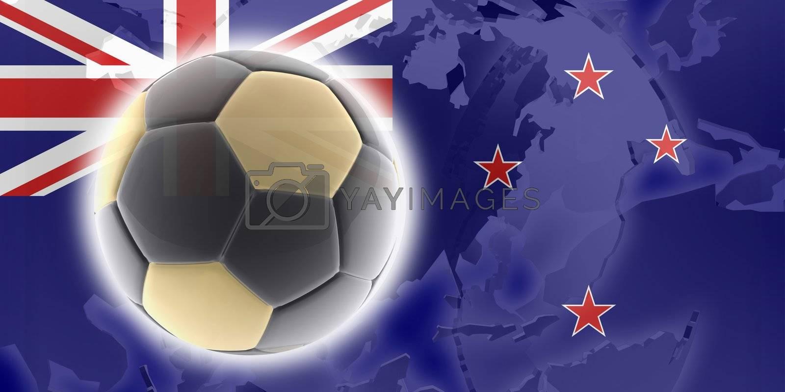 Flag of Tokelau, national country symbol illustration sports soccer football