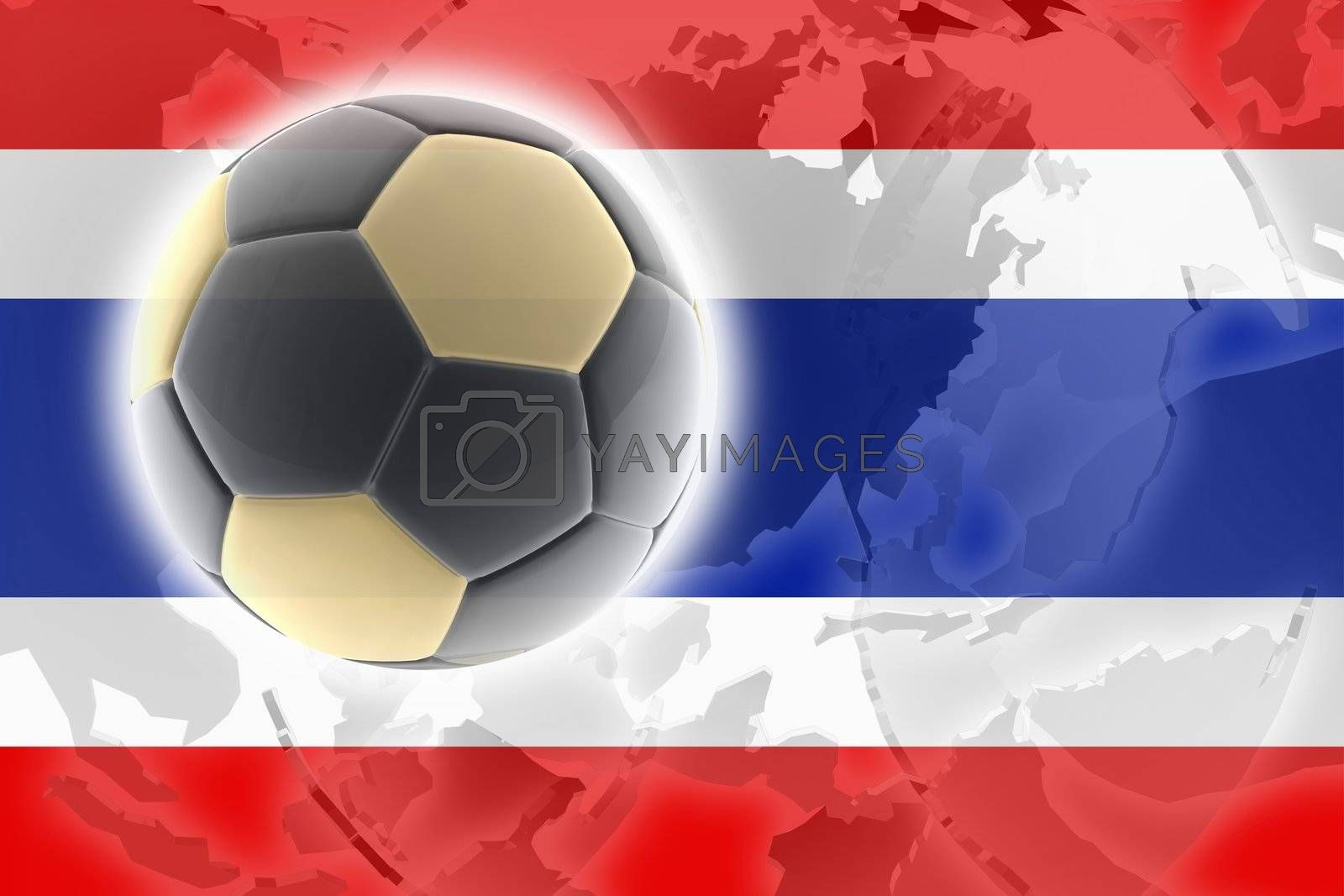 Royalty free image of Flag of Thailand soccer by kgtoh