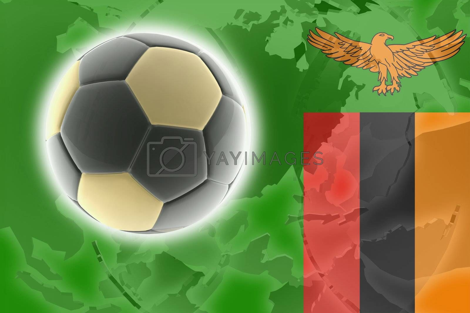 Royalty free image of Flag of Zambia soccer by kgtoh