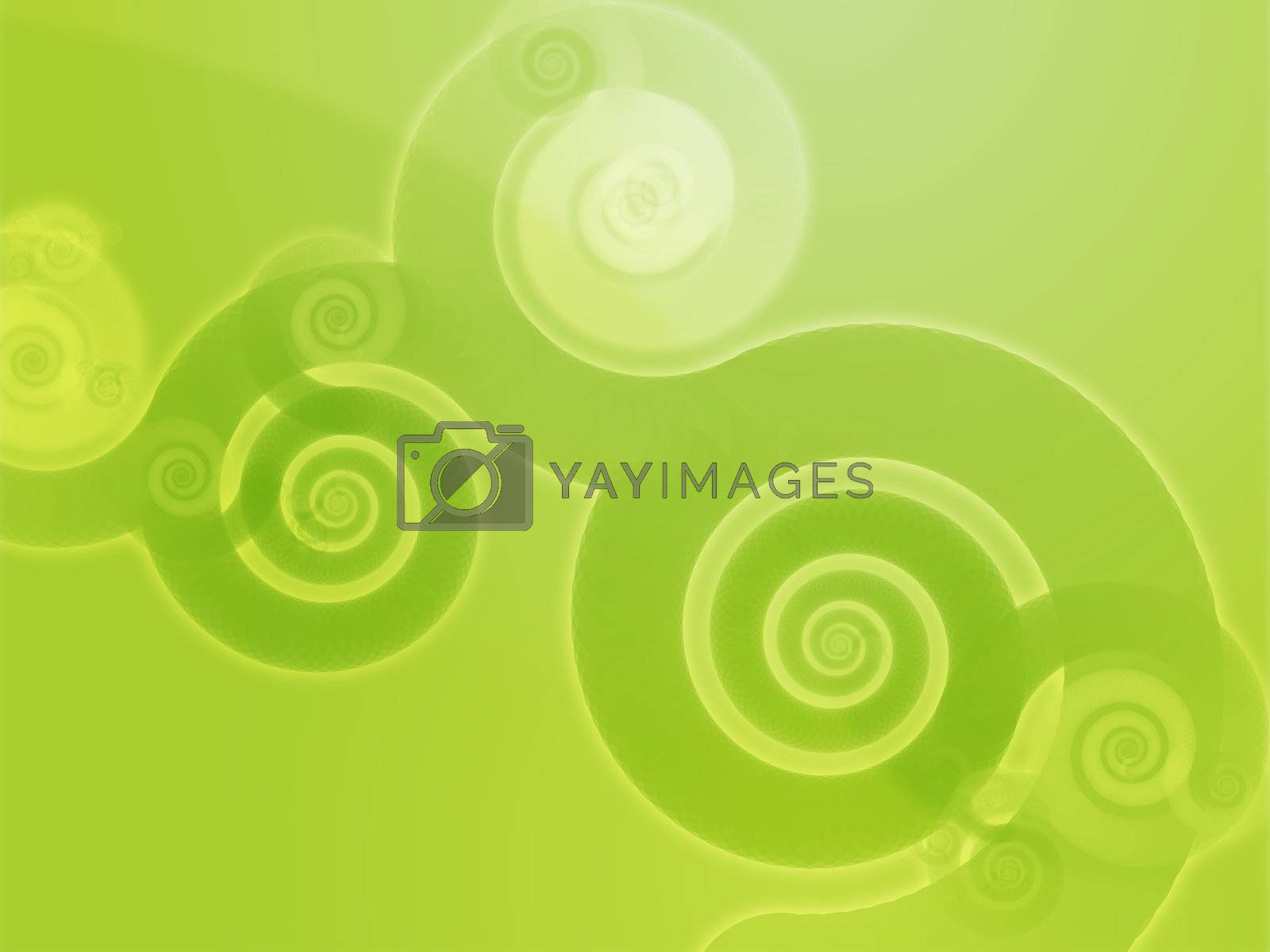 Abstract swirly floral grunge illustration by kgtoh