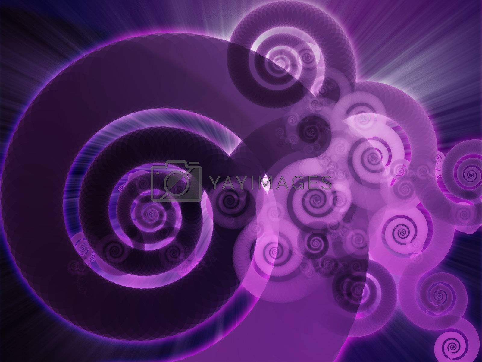 Royalty free image of Abstract swirly floral grunge illustration by kgtoh