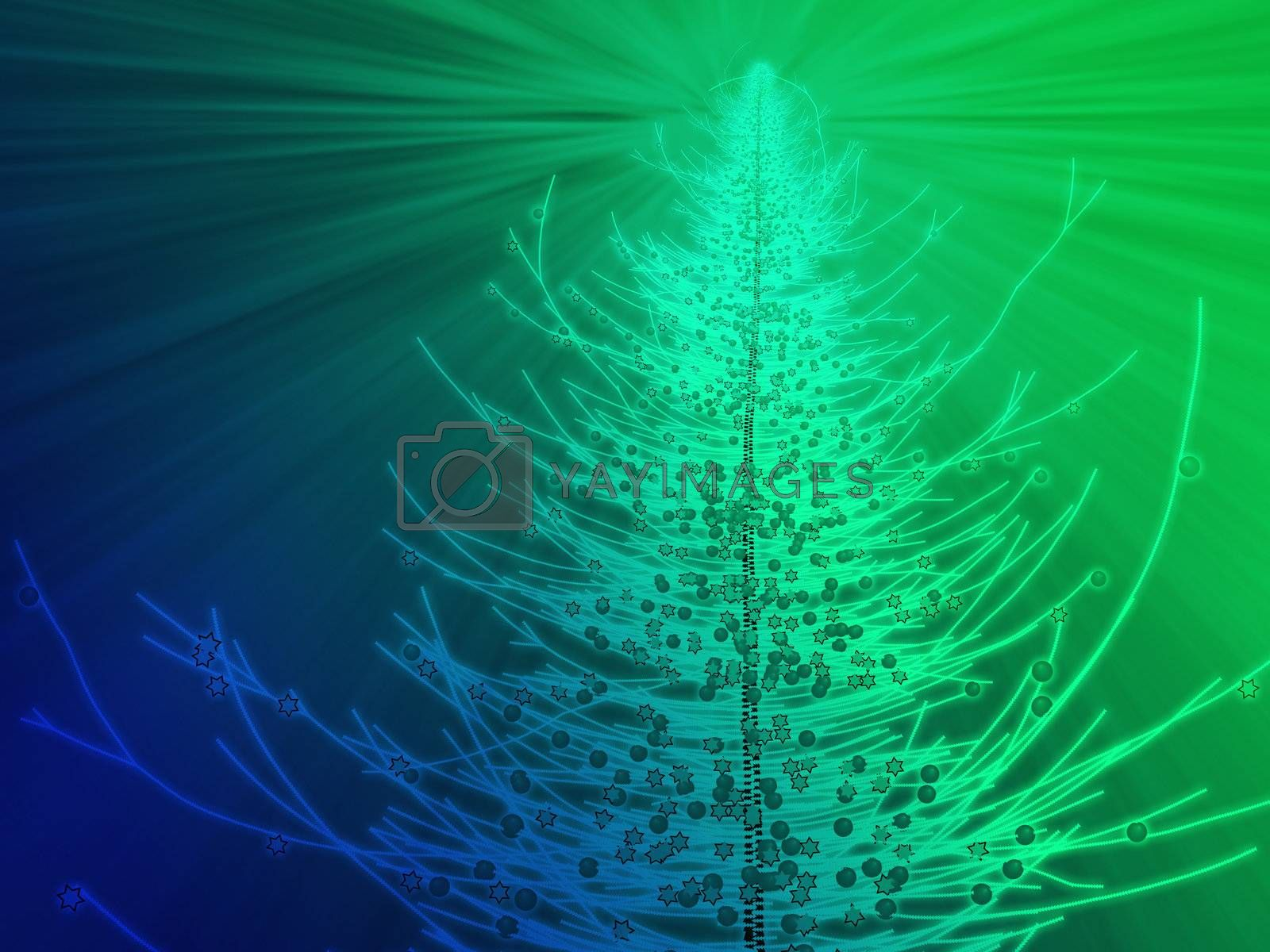 Royalty free image of Sparkly christmas tree illustration by kgtoh
