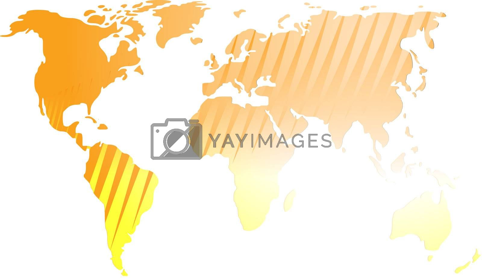 Royalty free image of Map of the world illustration by kgtoh