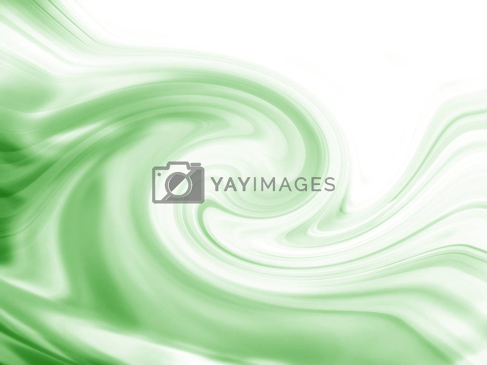 Wave in different shades of green