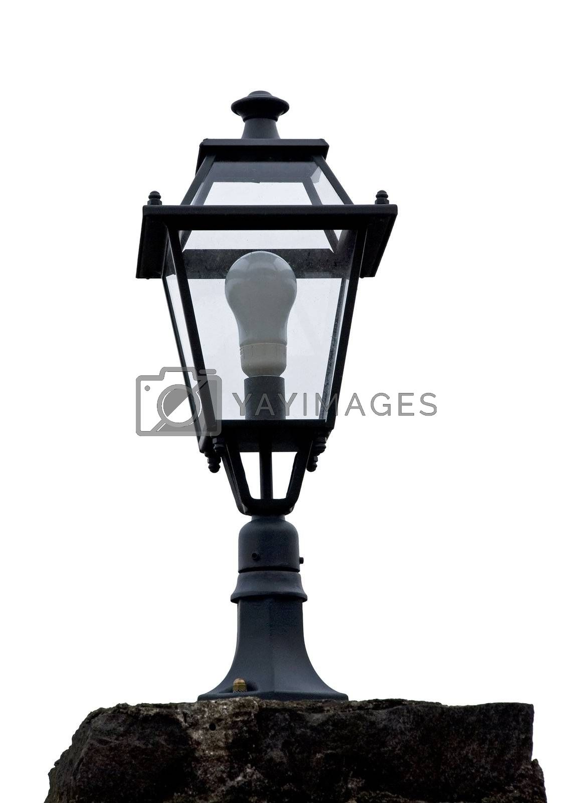 Old lamp isolated - with white background