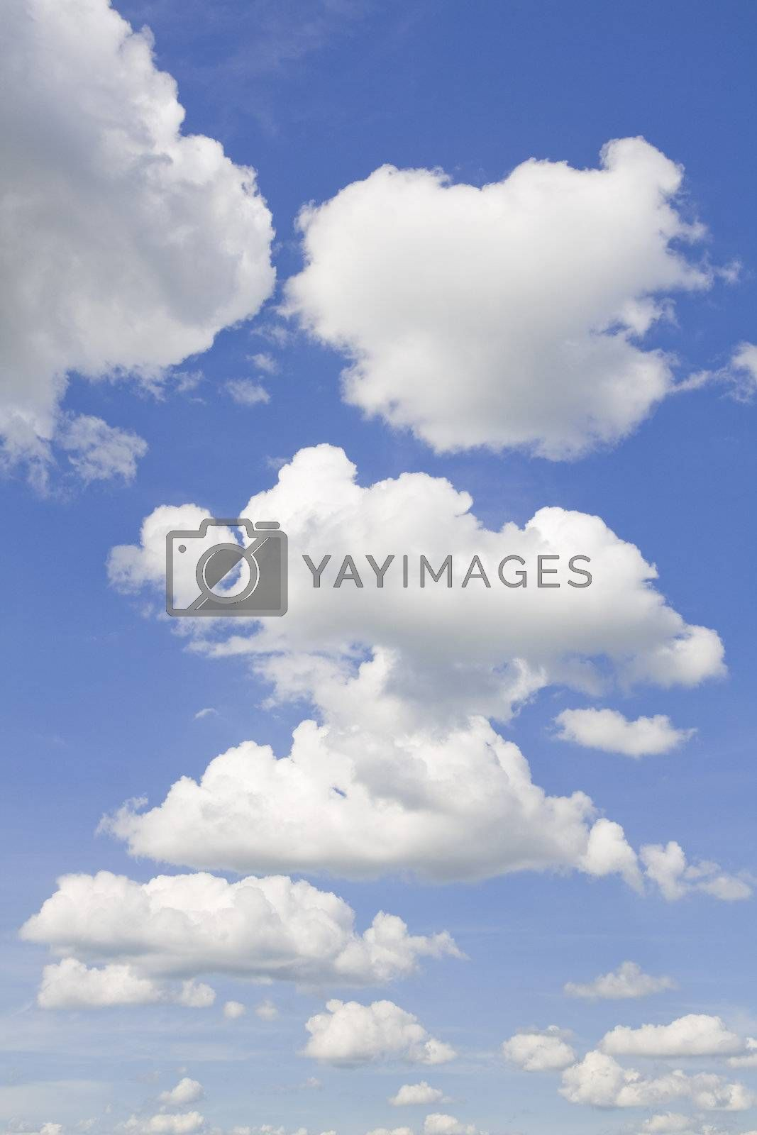 Beautiful blue sky and clouds background from Lithuania