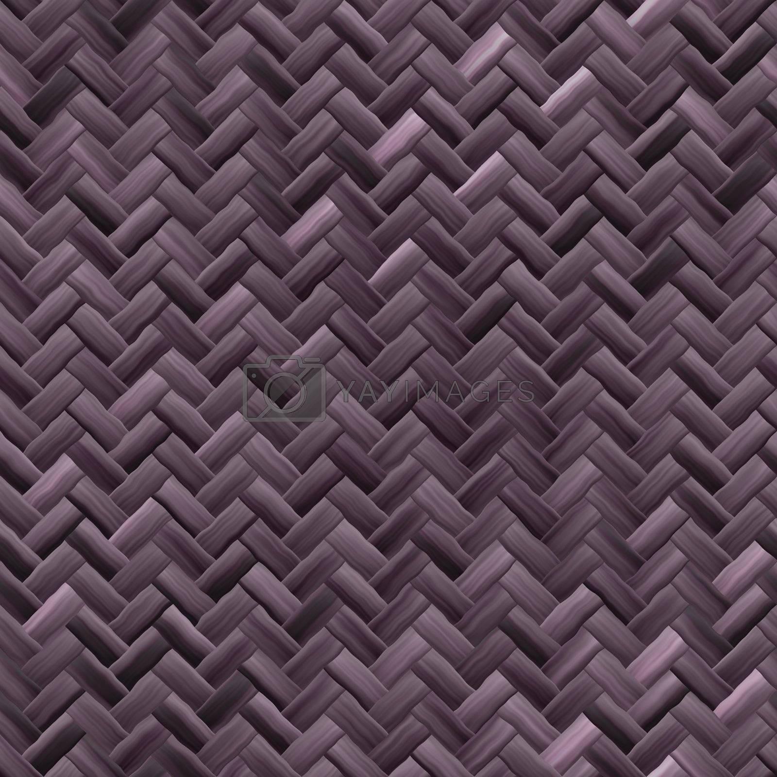 Woven basket texture seamlessly tiling rendered background illustration