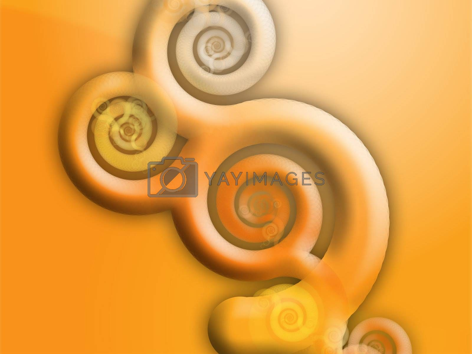 Floral grunge abstract wallpaper design with organic swirling shapes