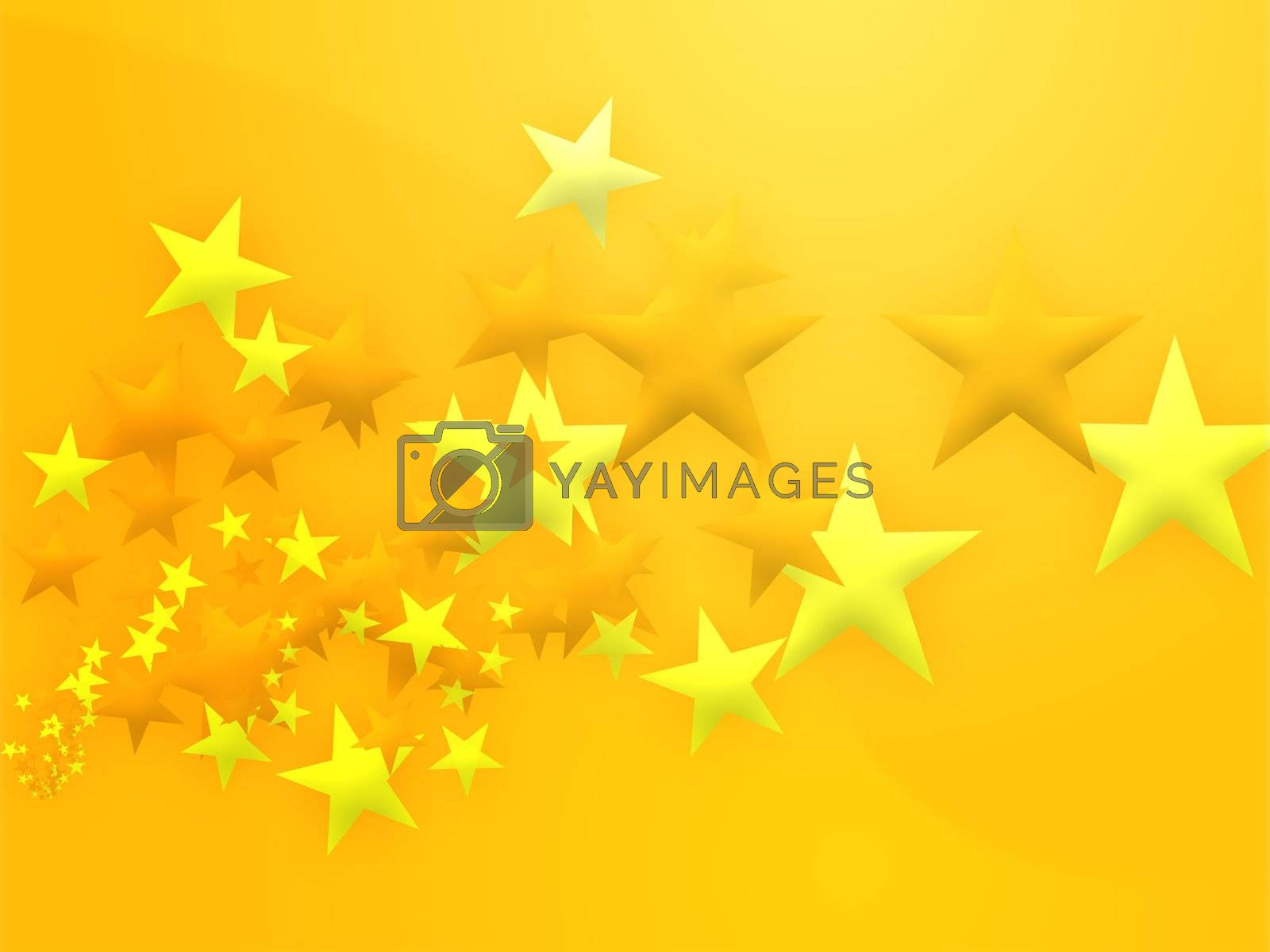 Royalty free image of Flying stars illustration by kgtoh