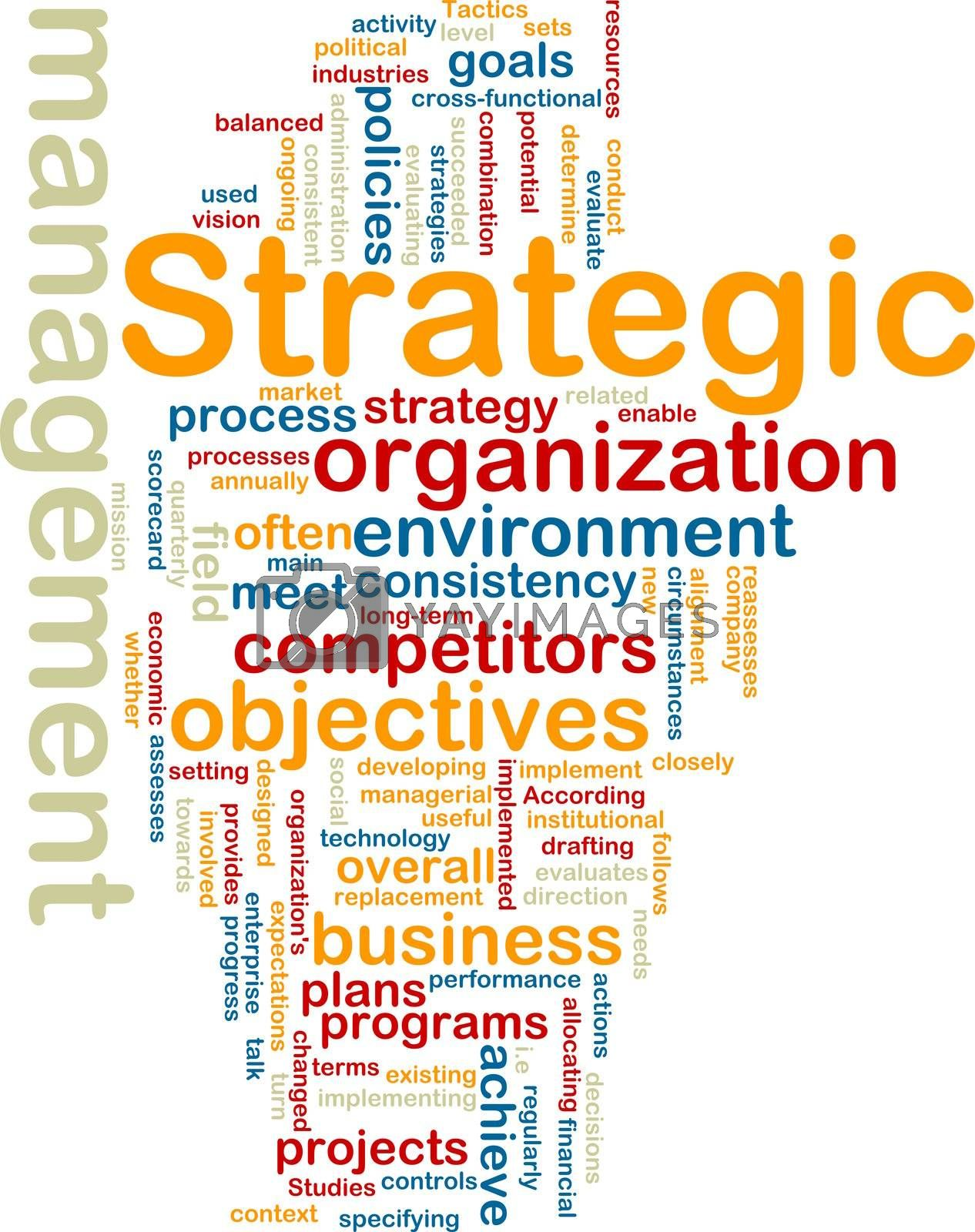 Royalty free image of Strategic management wordcloud by kgtoh