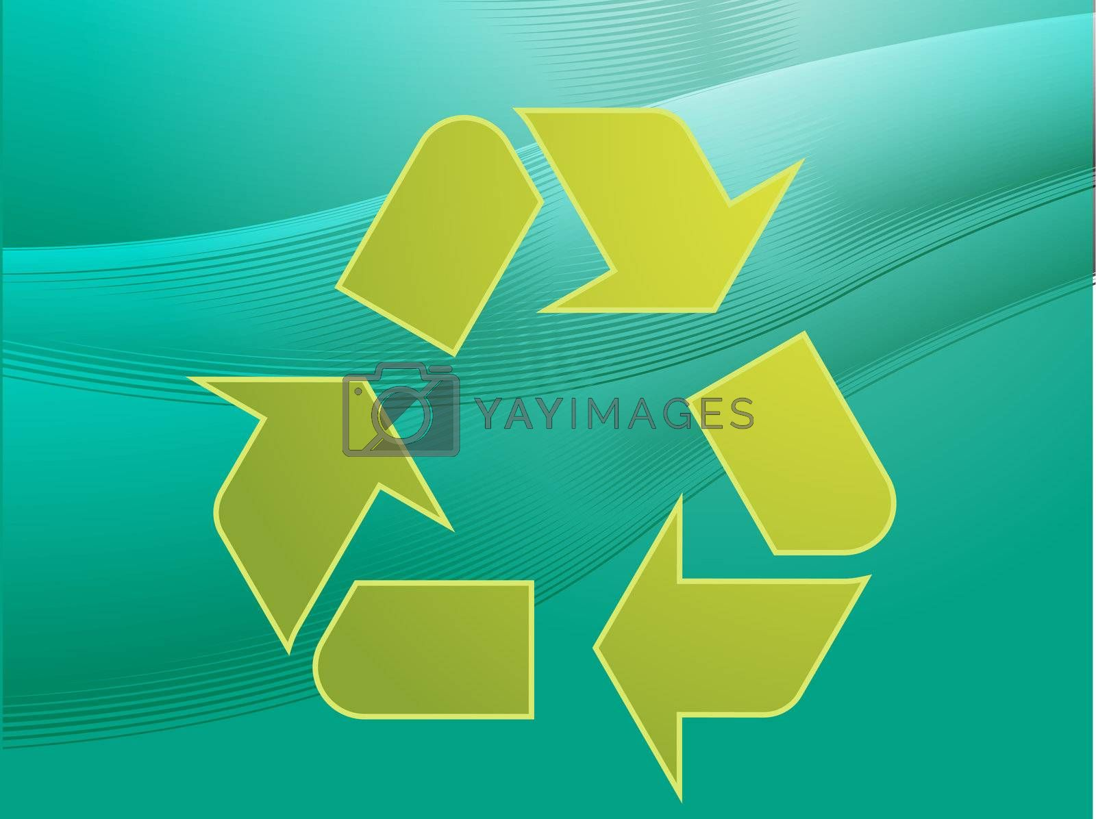 Royalty free image of Recycling eco symbol by kgtoh