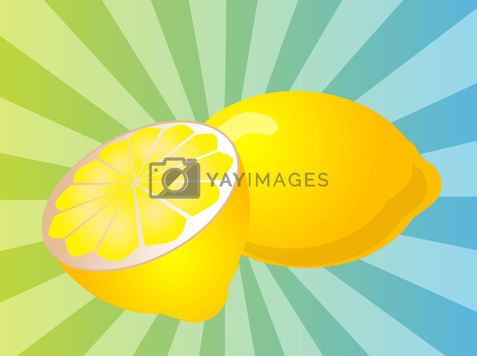 Royalty free image of Lemon fruit  illustration by kgtoh