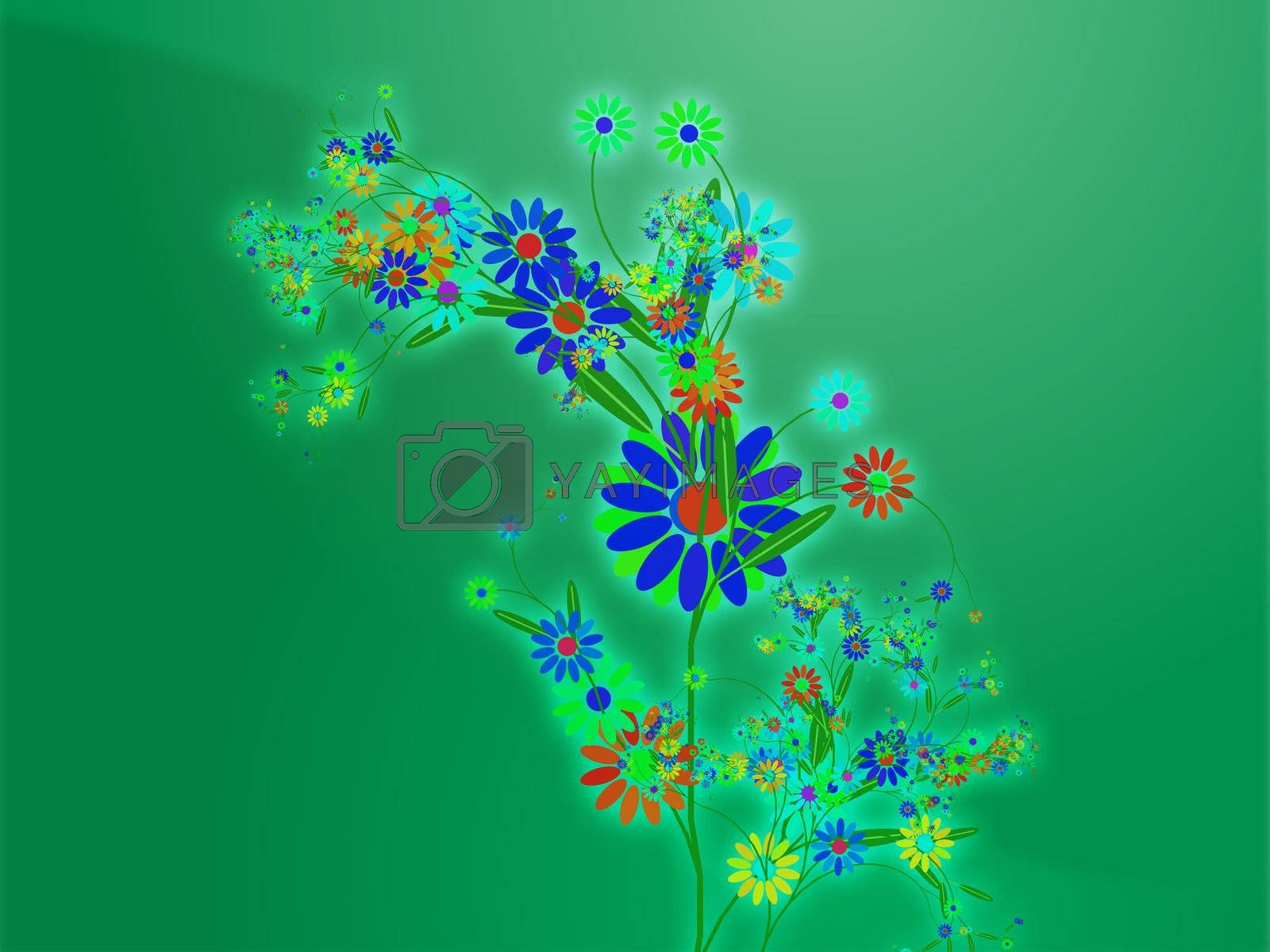 Royalty free image of Floral nature themed design illustration by kgtoh
