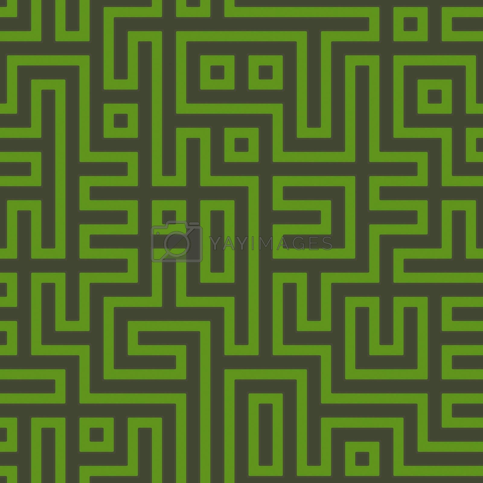 Abstract geometric maze background by kgtoh