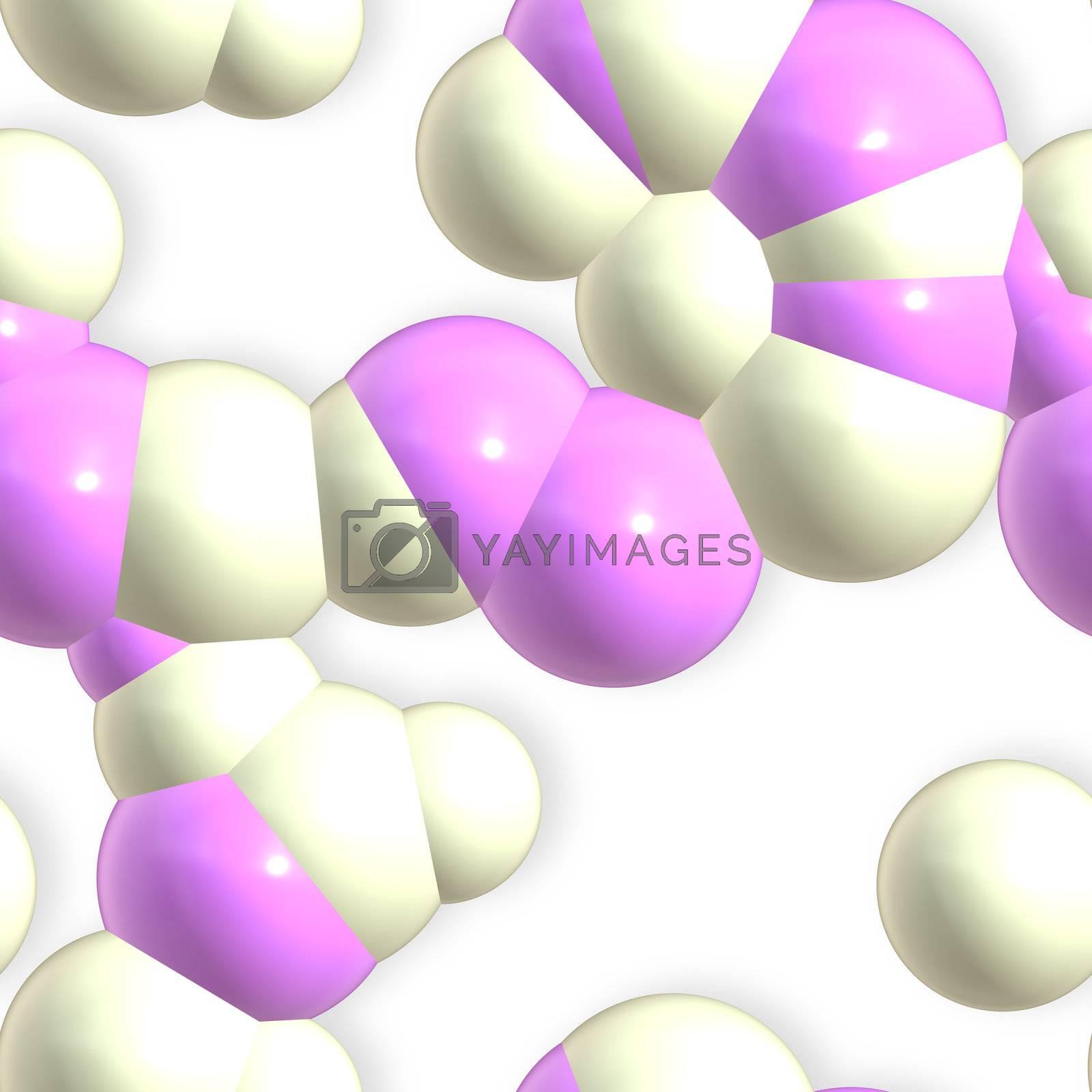 Molecule chemistry atoms background by kgtoh
