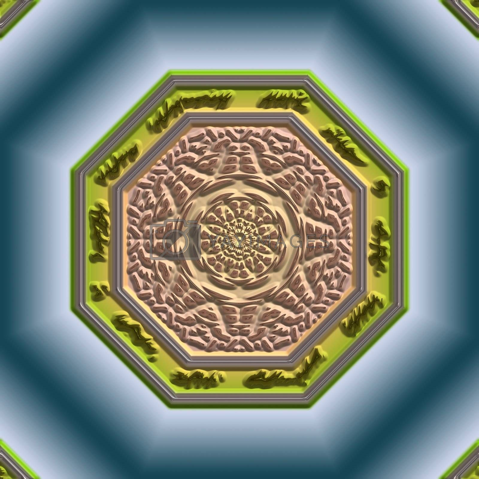 Royalty free image of Mandala Eastern abstract design by kgtoh