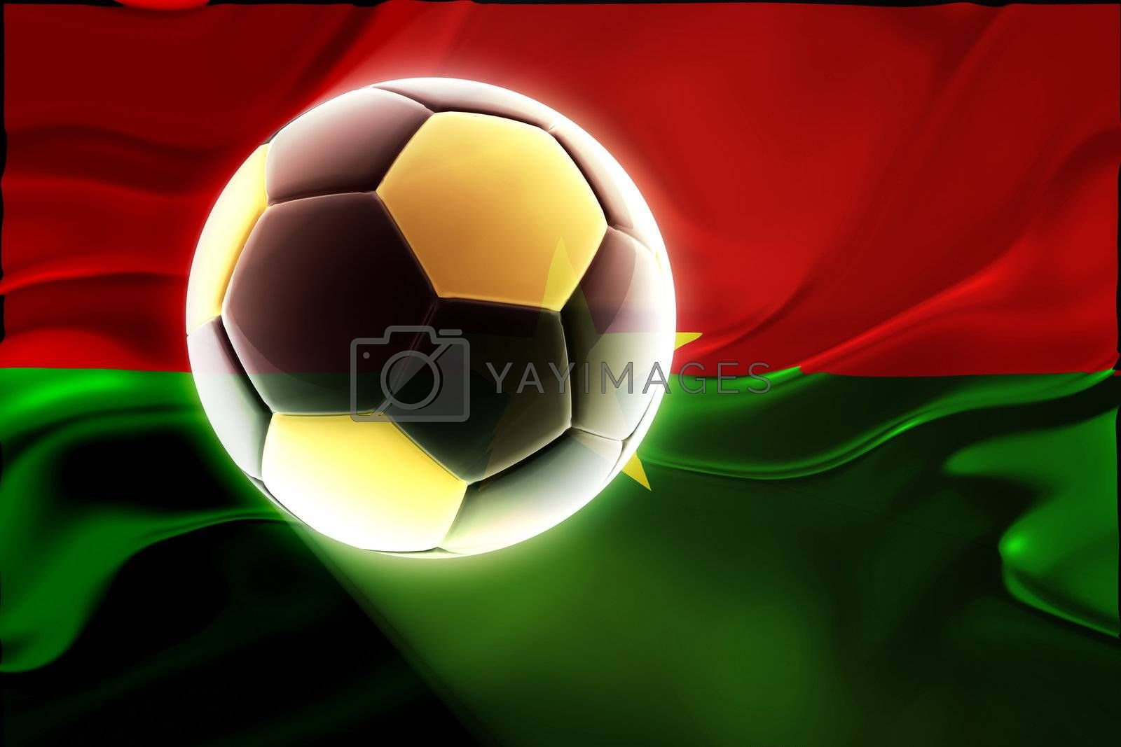 Royalty free image of Burkina Faso flag wavy soccer by kgtoh