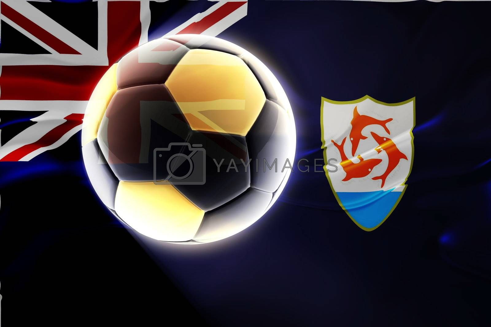Royalty free image of Flag of Anguilla wavy soccer by kgtoh