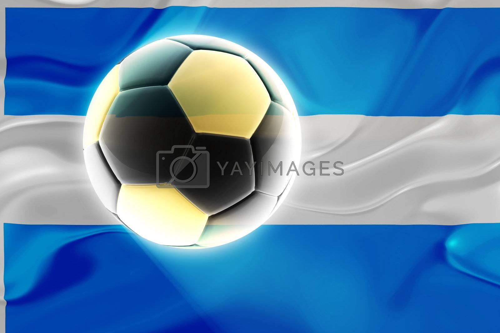 Argentina flag wavy soccer by kgtoh