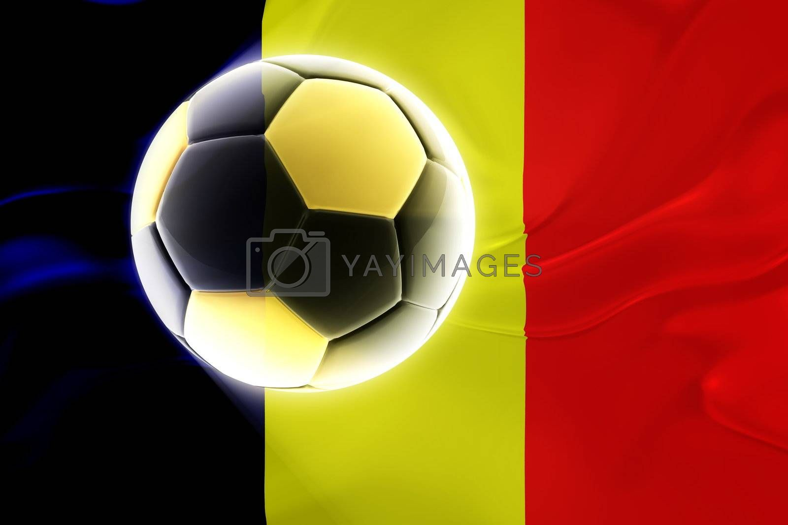 Flag of Chad, national country symbol illustration wavy fabric sports soccer football