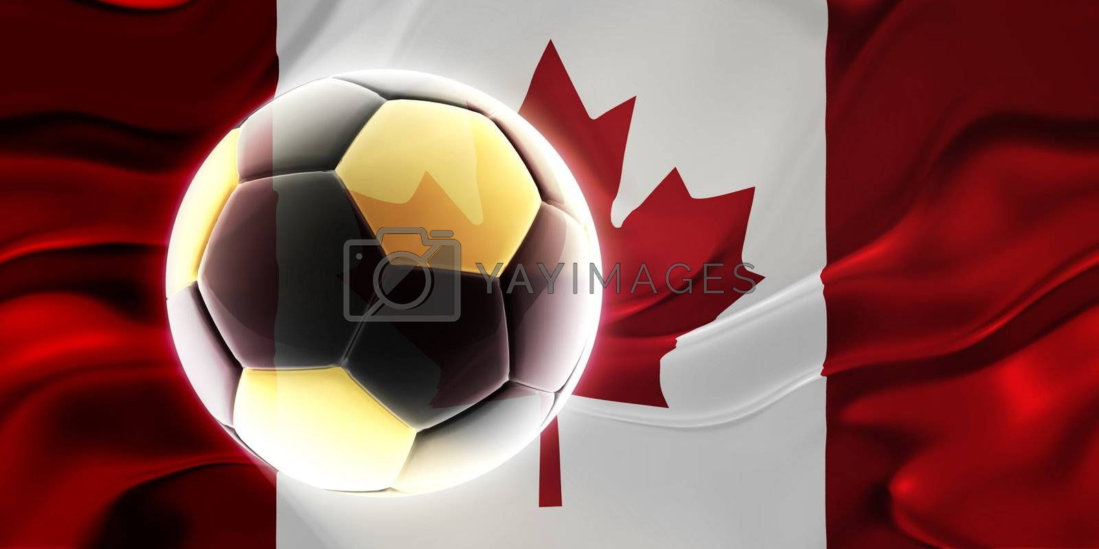 Royalty free image of Flag of Canada wavy soccer by kgtoh