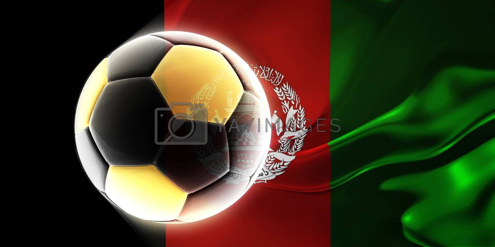 Flag of Afghanistan wavy soccer by kgtoh