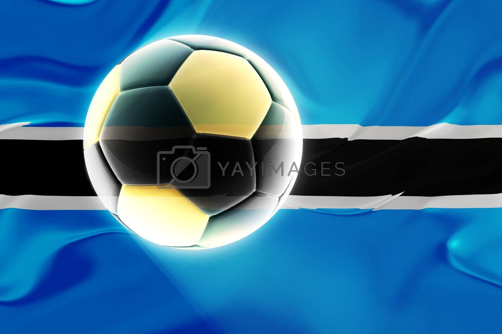 Royalty free image of Flag of Botswana wavy soccer by kgtoh