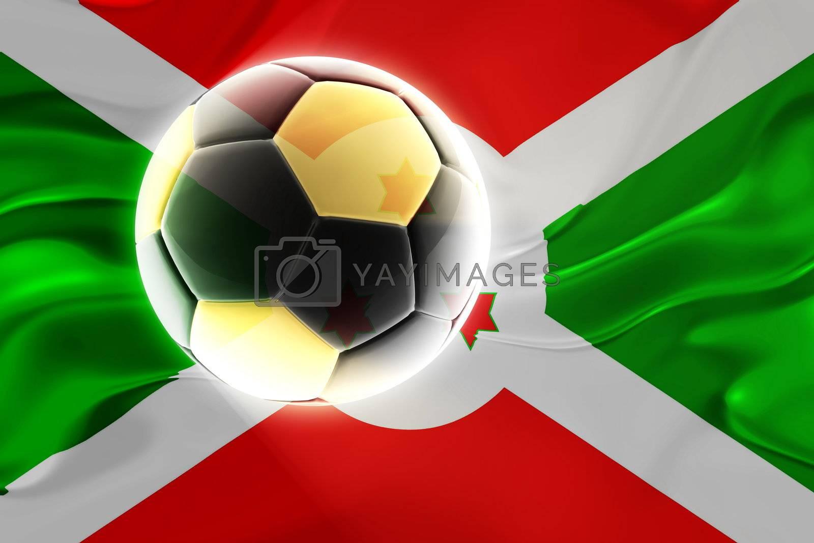 Flag of Burundi wavy soccer by kgtoh