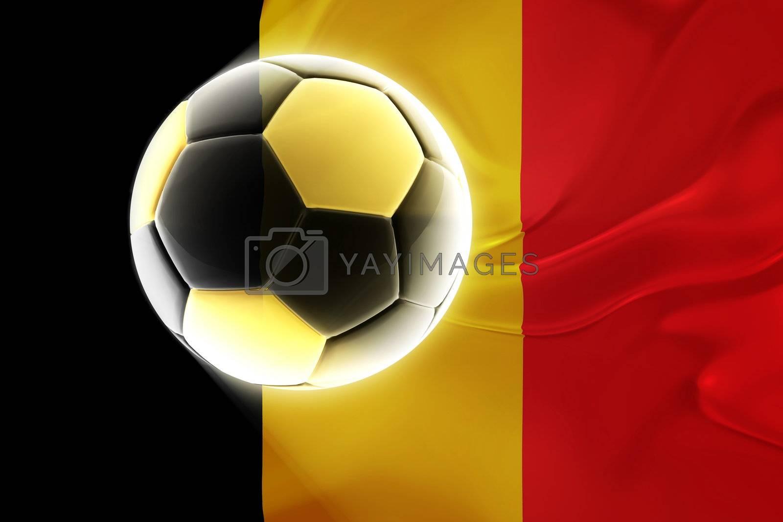 Belgium flag wavy soccer by kgtoh