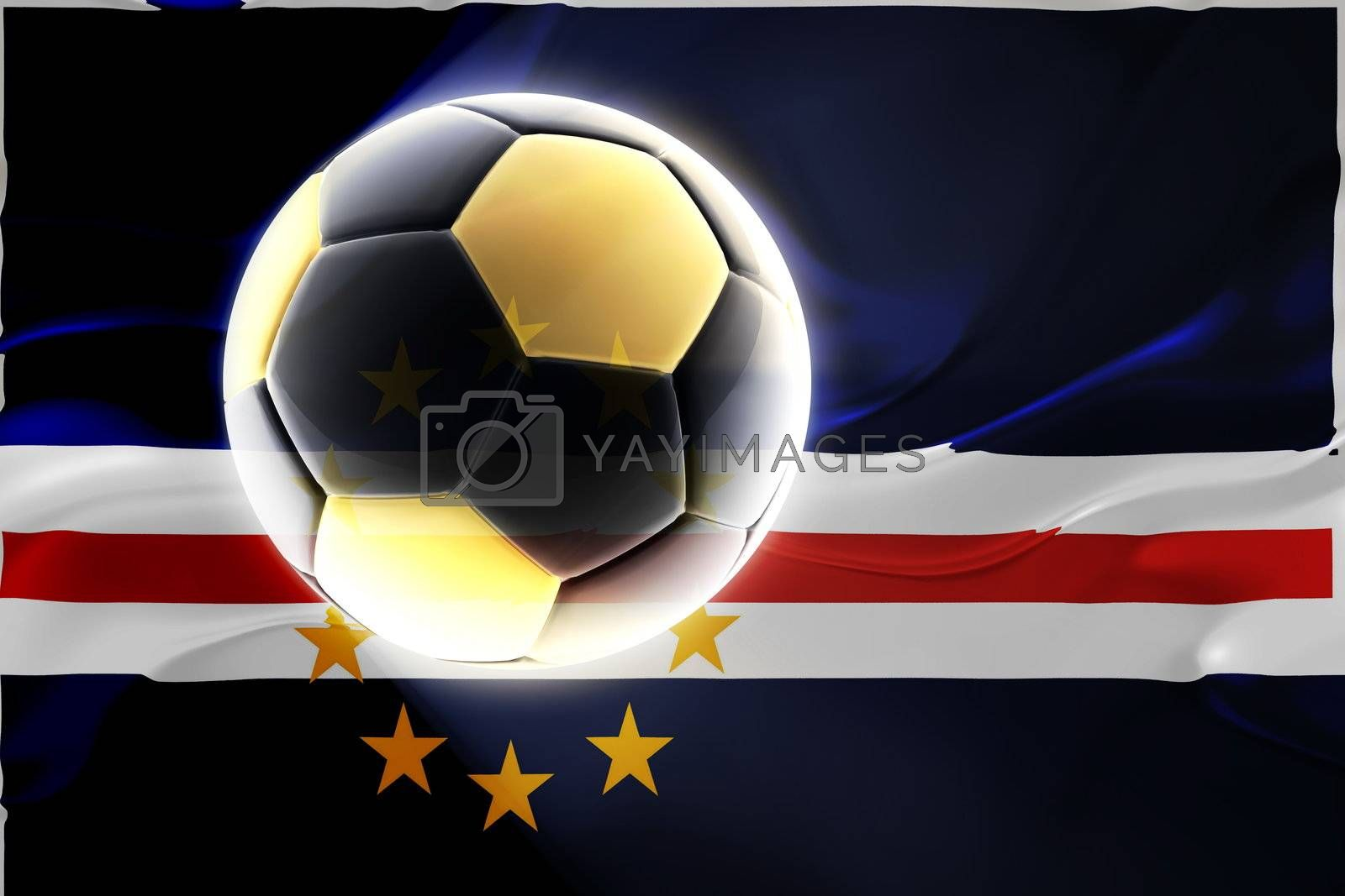 Flag of Cape Verde wavy soccer by kgtoh