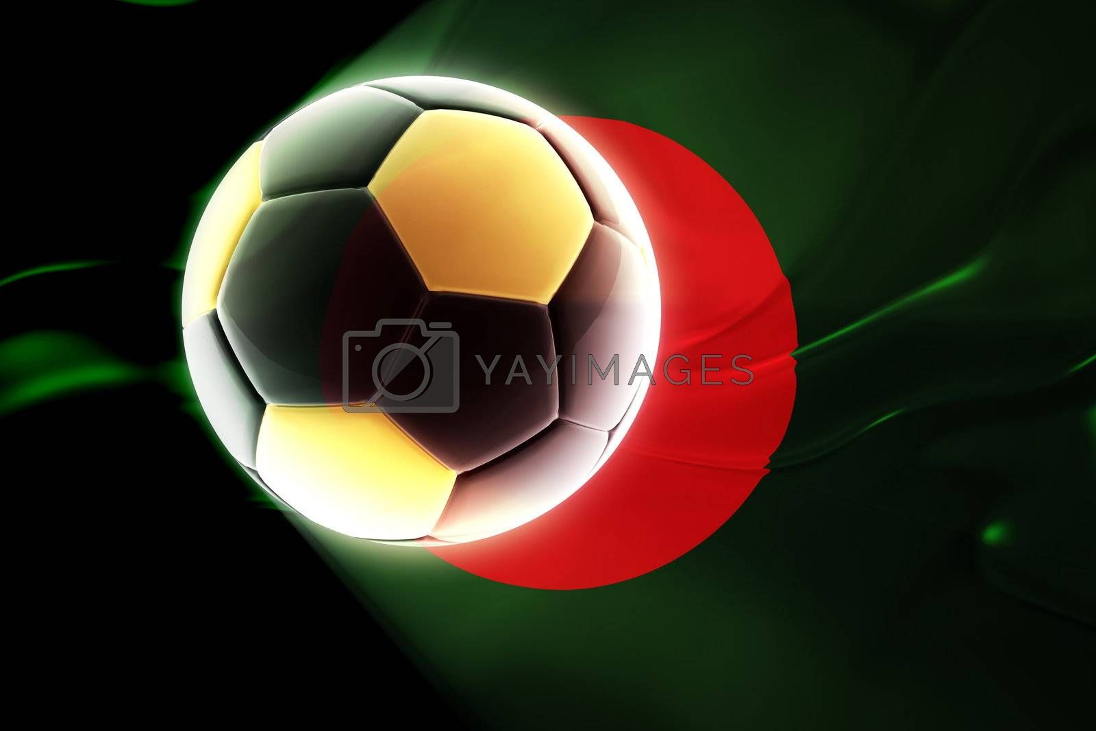 Flag of Bangladesh, national country symbol illustration wavy fabric sports soccer football