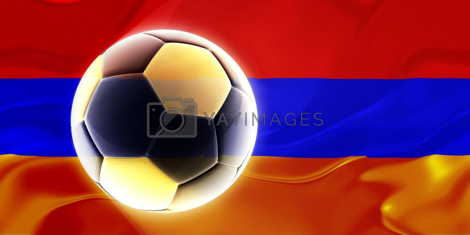 Flag of Armenia, national symbol illustration clipart wavy fabric sports soccer football