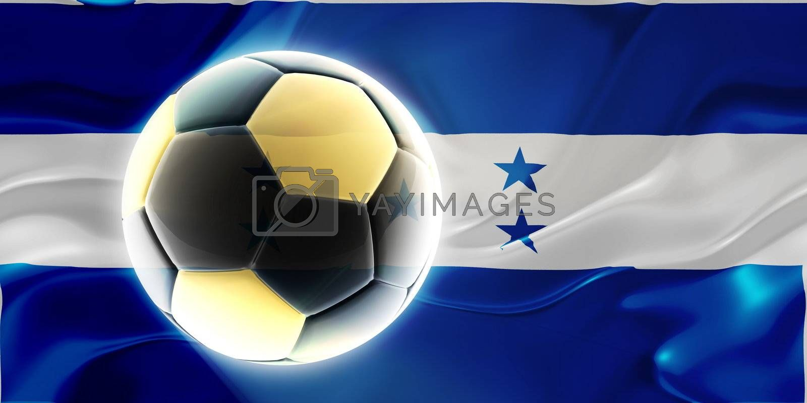 Flag of Honduras, national country symbol illustration wavy fabric sports soccer football