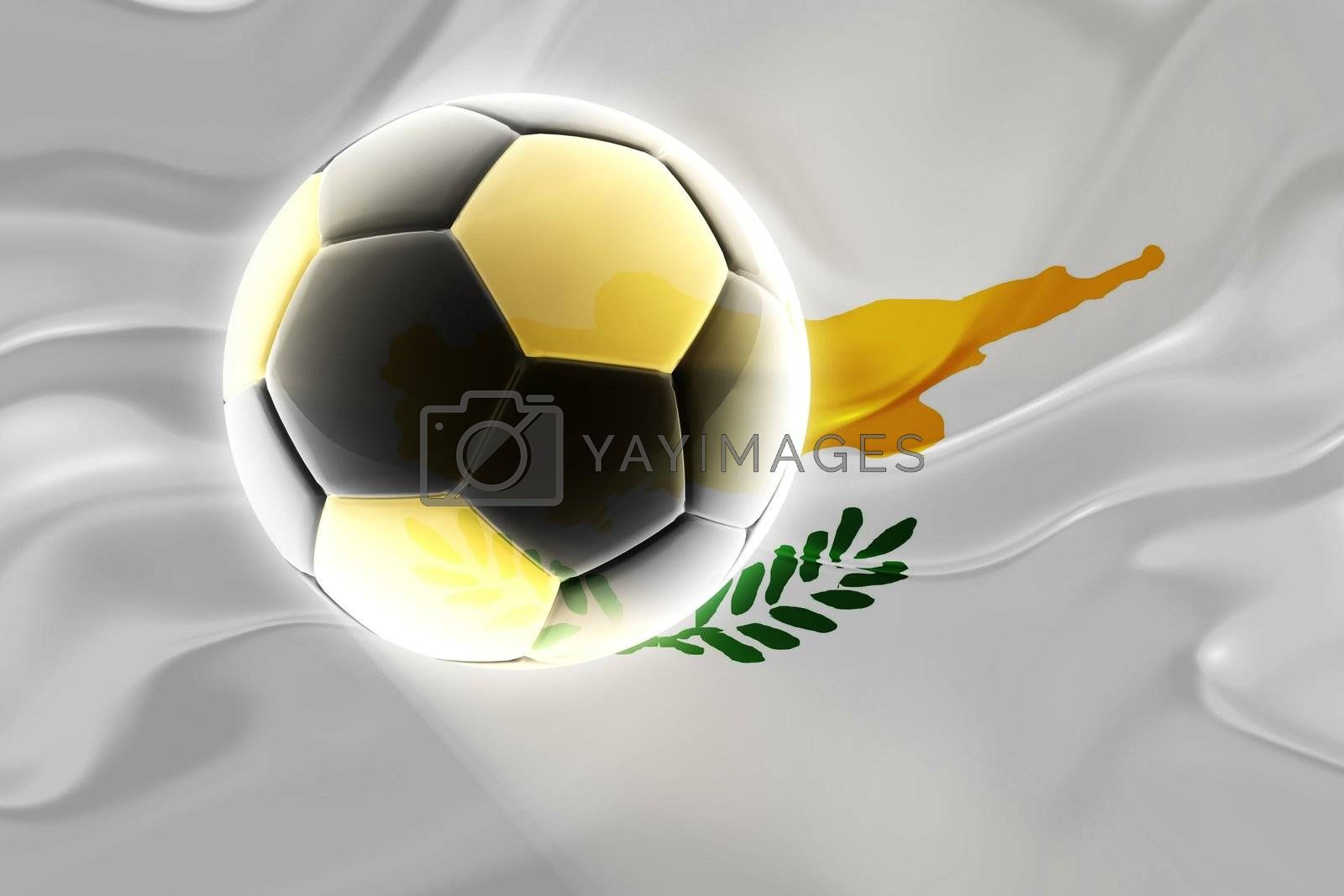 Flag of Cyprus, national symbol illustration clipart wavy fabric sports soccer football