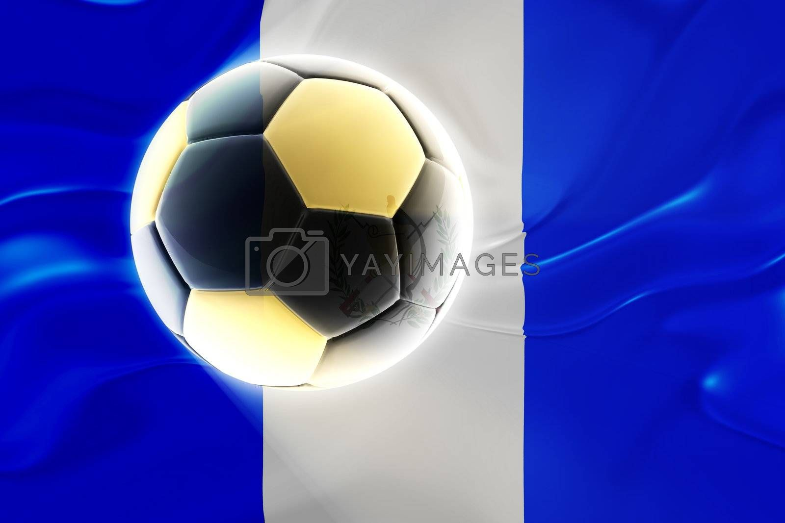 Flag of Guatemala, national country symbol illustration wavy fabric sports soccer football