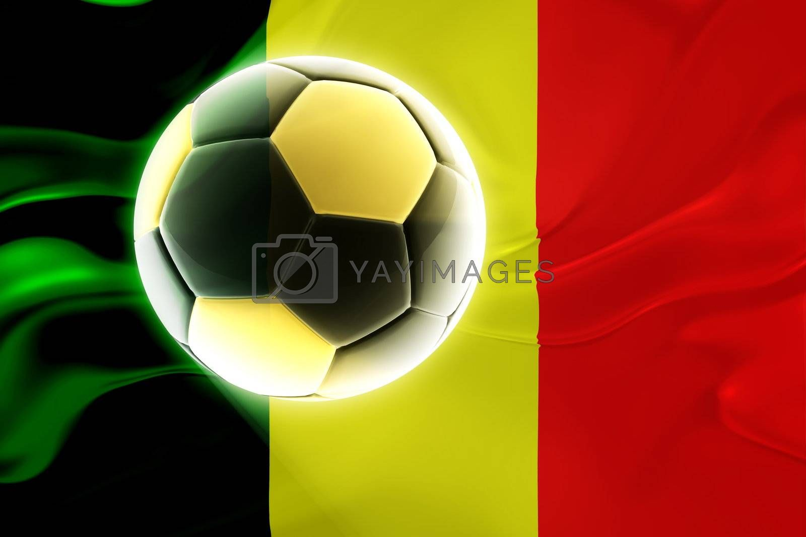 Flag of Mali, national country symbol illustration wavy fabric sports soccer football