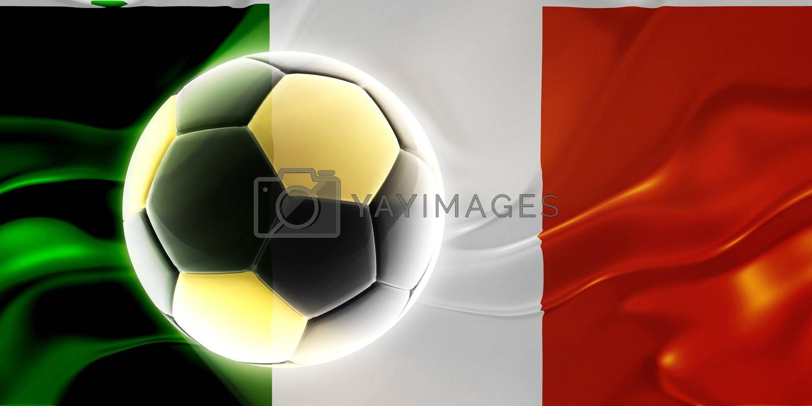 Flag of Ireland, national country symbol illustration wavy fabric sports soccer football