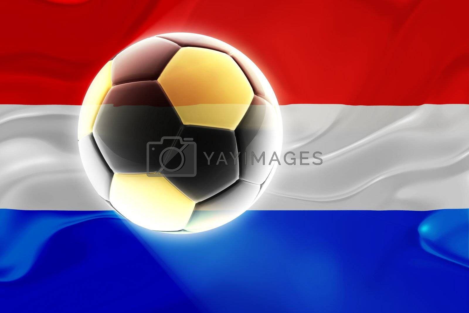 Flag of Luxenbourg, national country symbol illustration wavy fabric sports soccer football