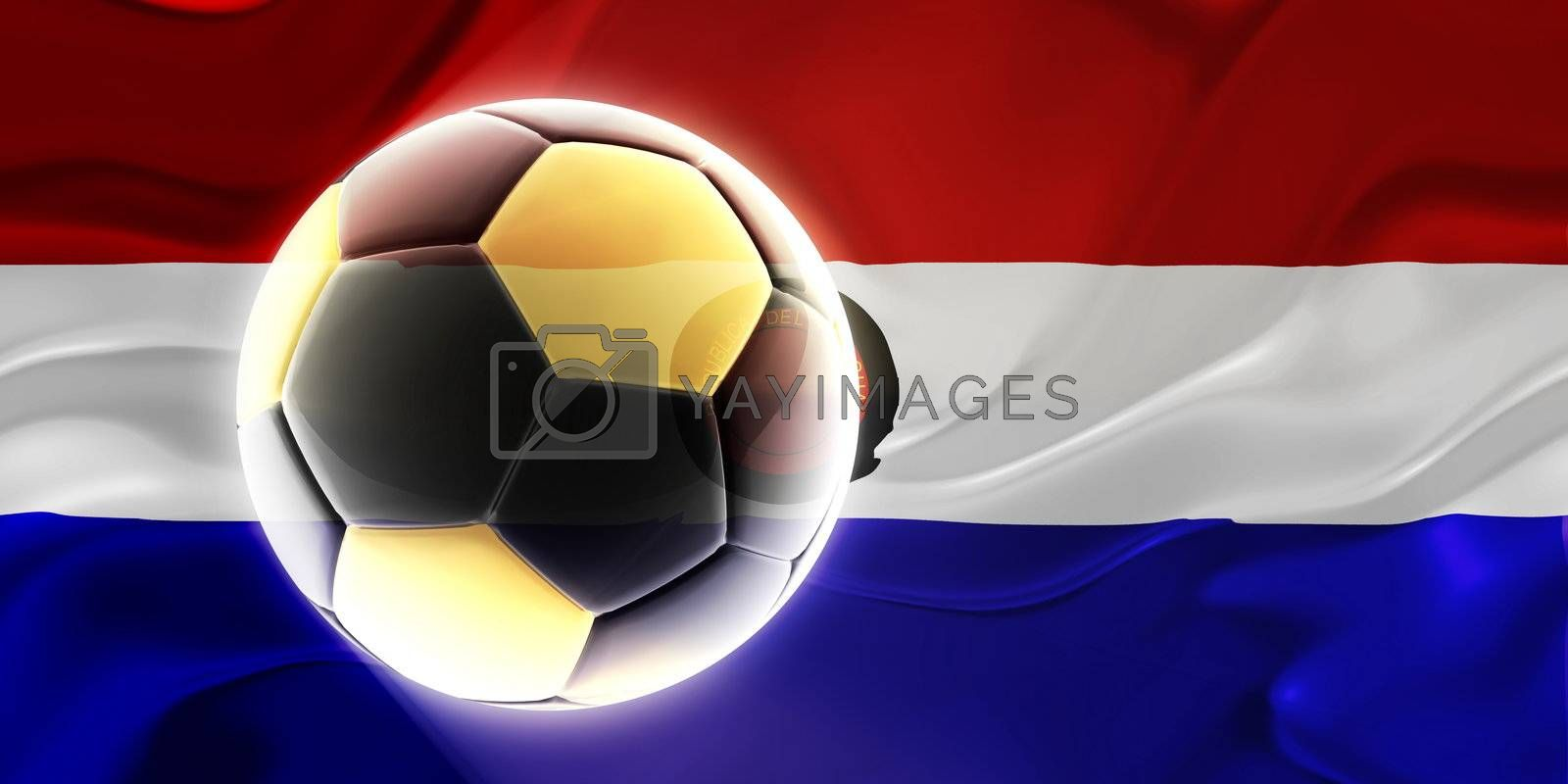Flag of Paraguay, national country symbol illustration wavy fabric sports soccer football
