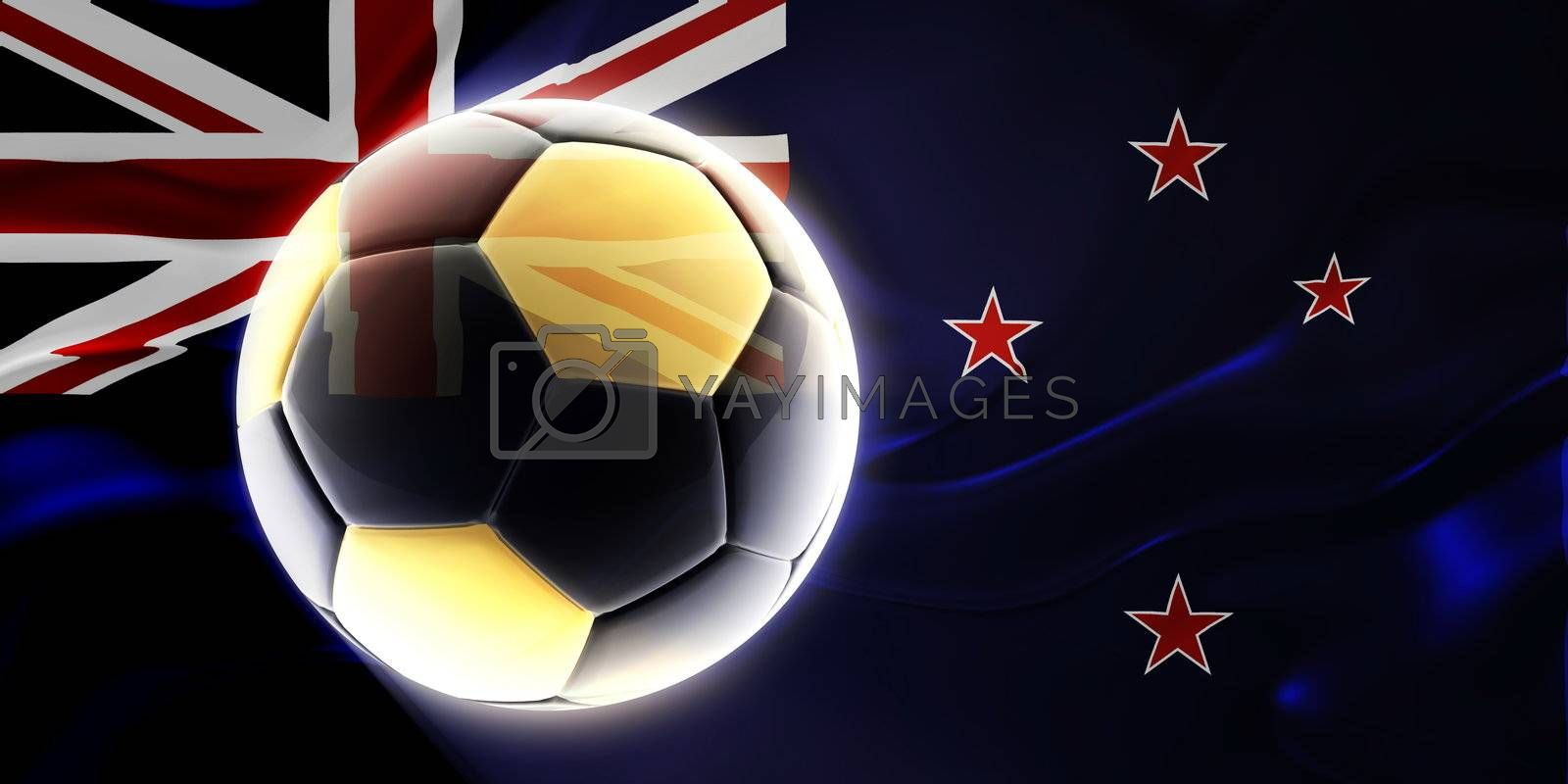 Flag of Tokelau, national country symbol illustration wavy fabric sports soccer football
