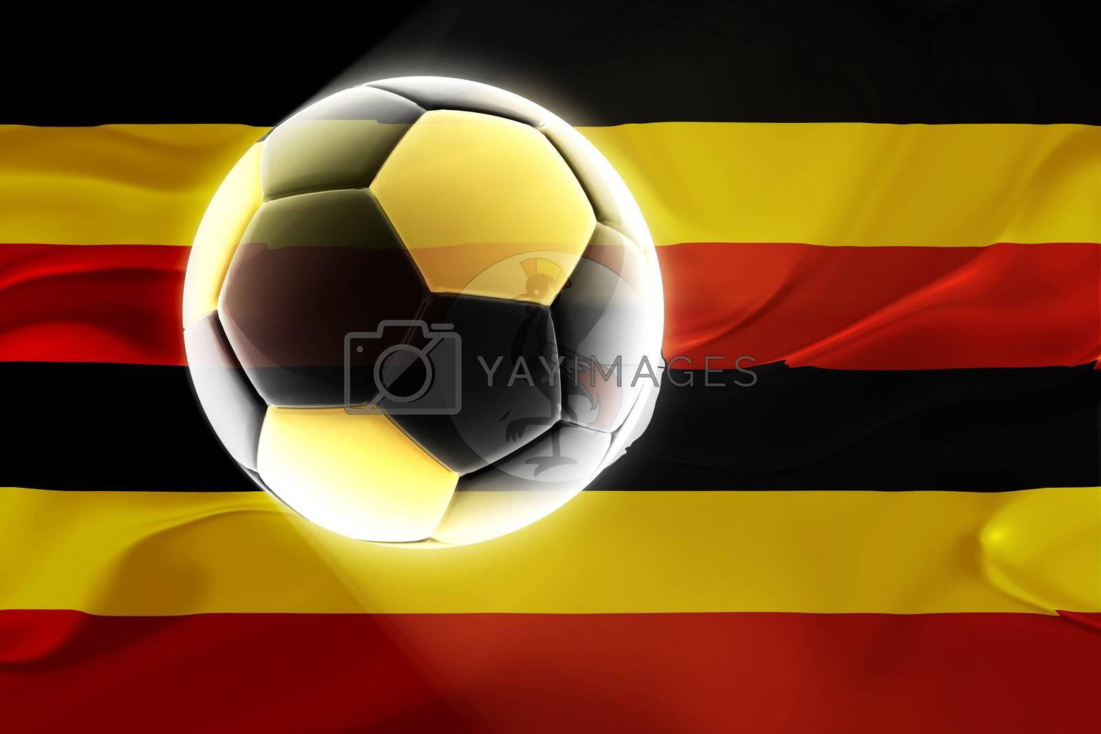Flag of Uganda wavy soccer by kgtoh