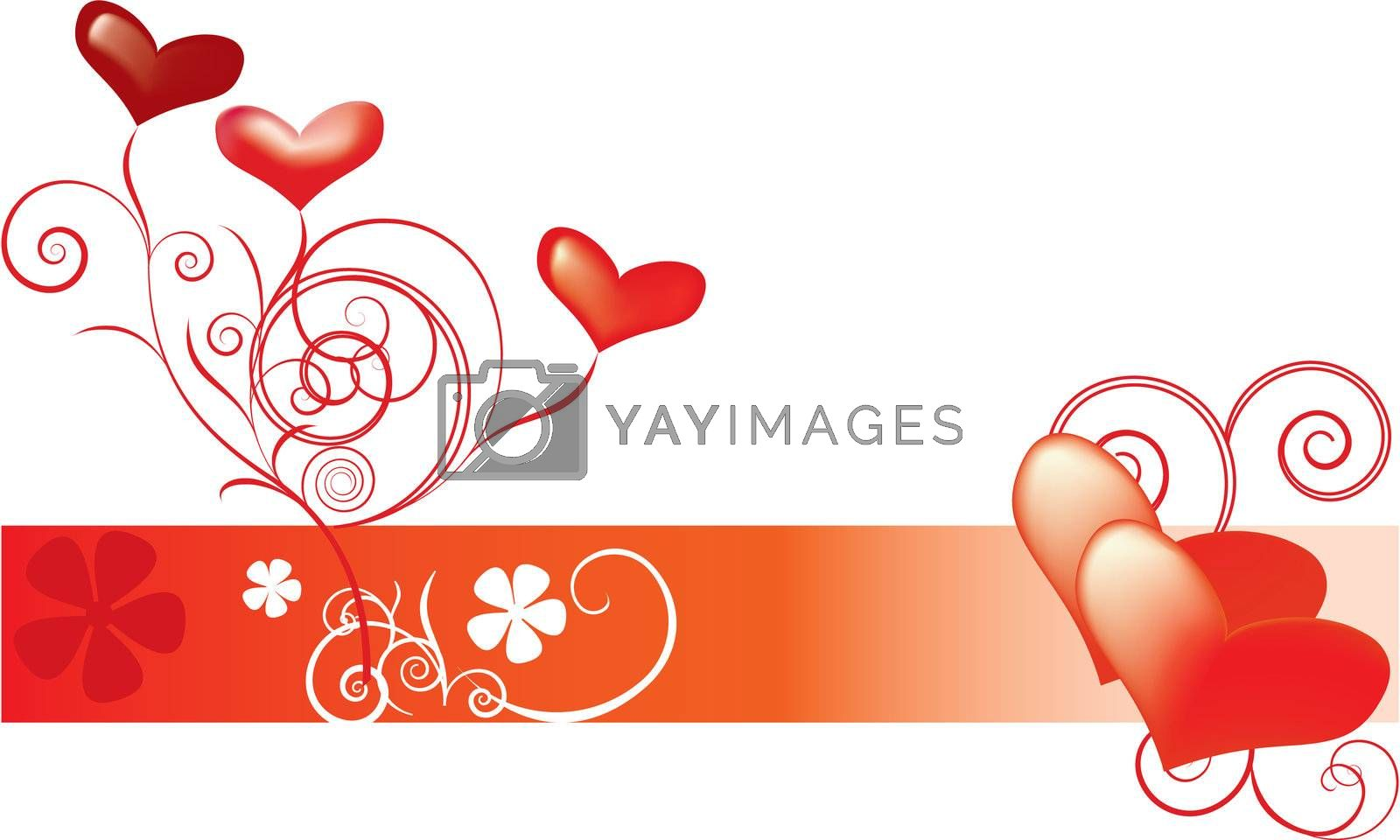 Abstract hearts Valentines Day background