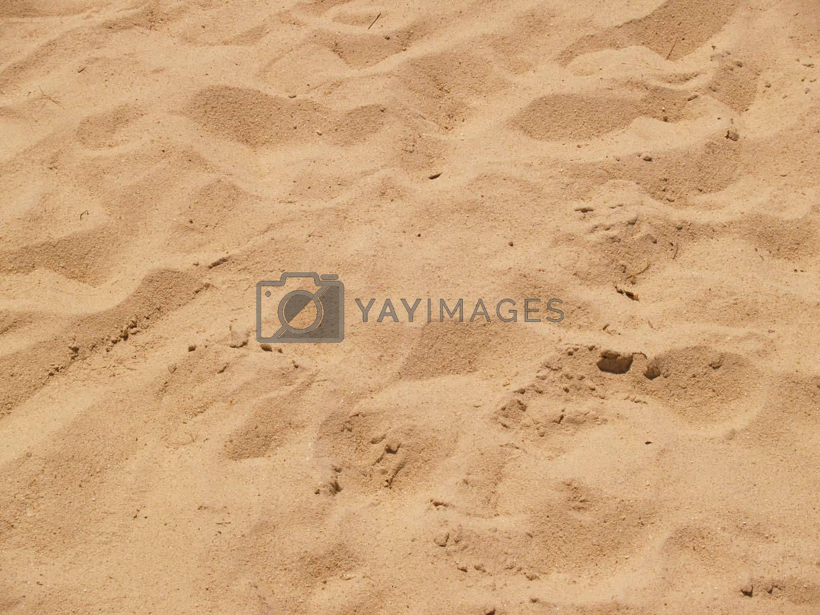 abstract view of sand on a beach