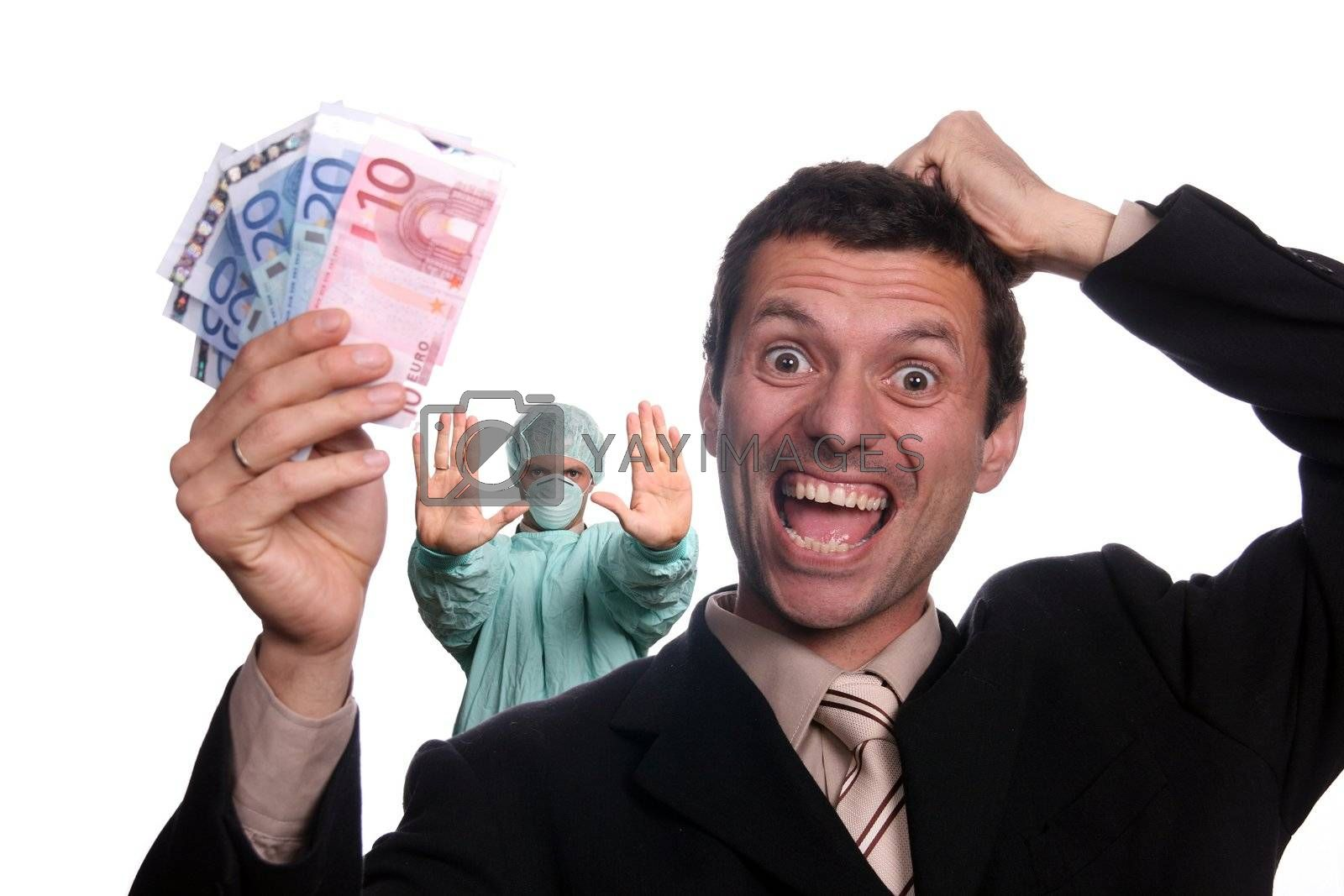 businessman with money by jpcasais