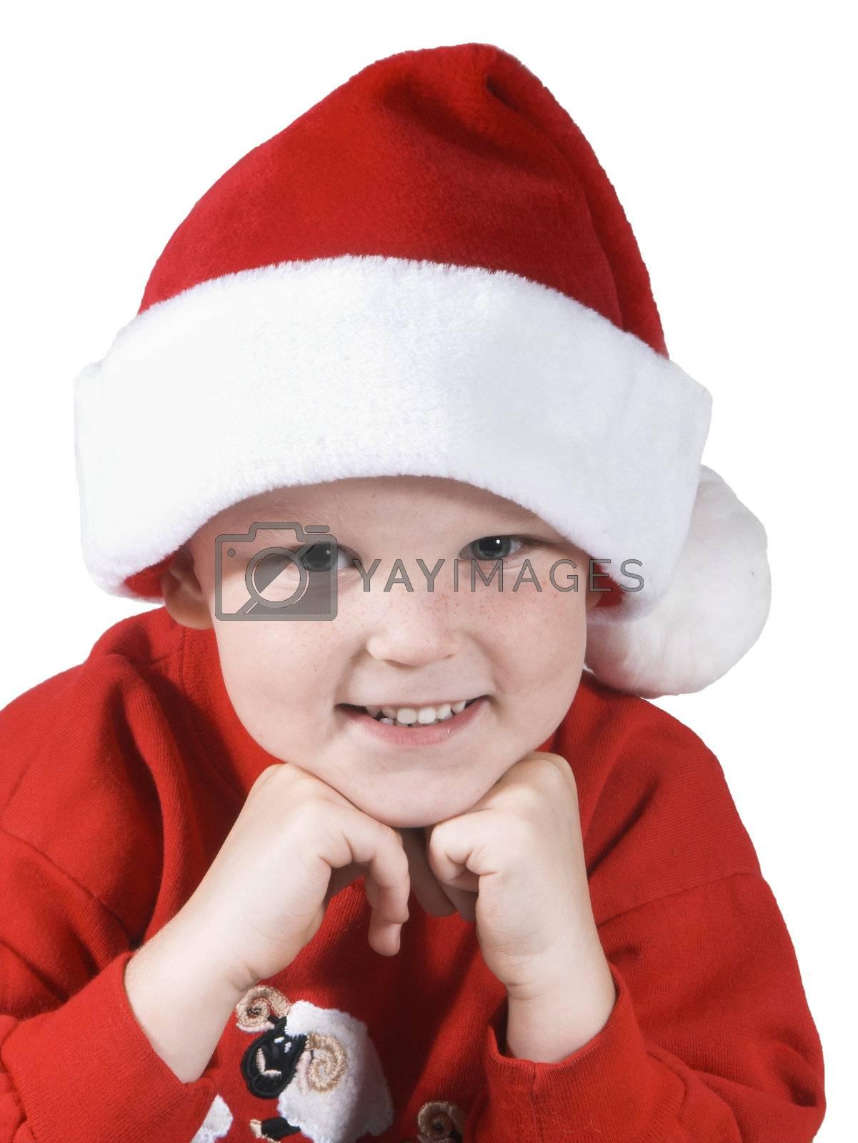 isolated happy  child