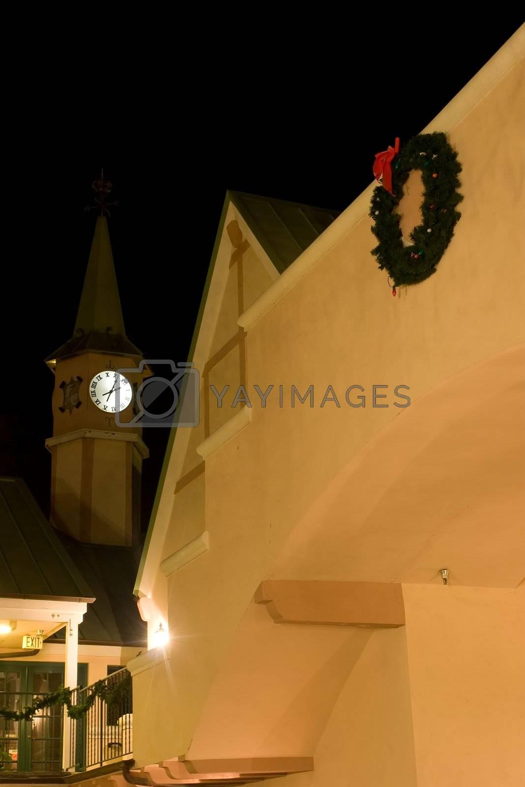 Clock Tower view from Jensens Copenhagen Square in Solvang, California